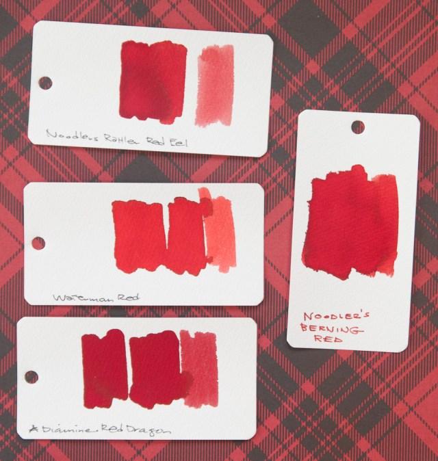 Noodler's Berning Red ink comparison