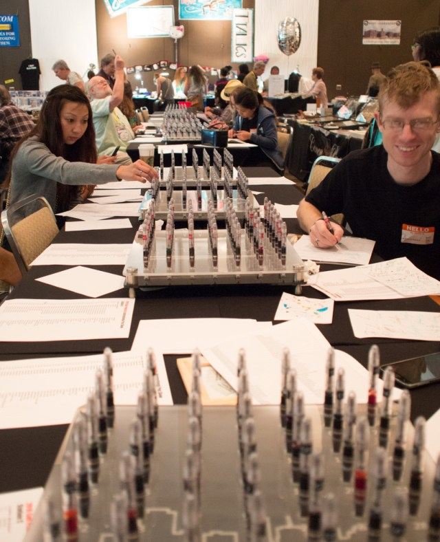 The amazing aisle of ink testers