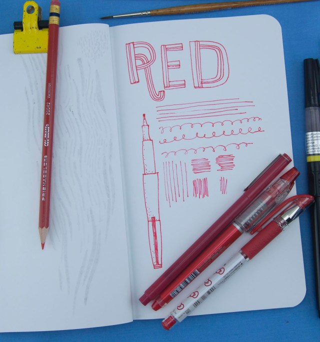 Denik Red pen test