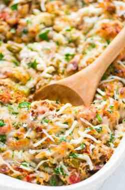 Soulful Spaghetti Squash Casserole Bell Peppers Ground Ground Beef Cheesy Spaghetti Squash Casserole Keto Crockpot Recipes Ground Beef Keto Recipes