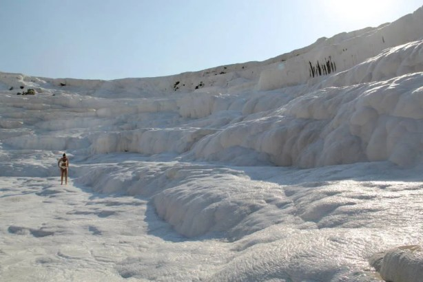 Soaking in Pamukkale baths