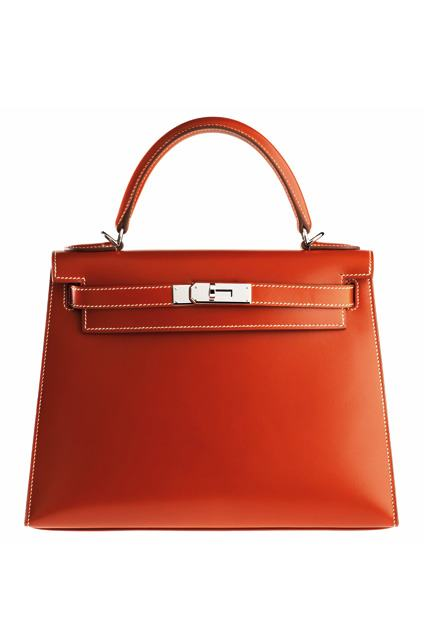 hermes,orange kelly bag