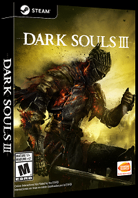 Dark Souls III Cover, Rechte bei From Software und Bandai Namco Entertainment