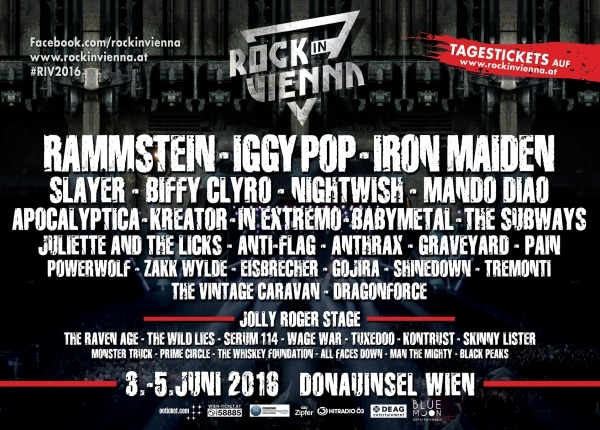 Rock in Vienna - Lineup