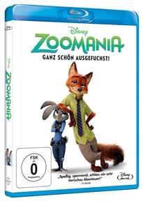 Blu-ray Cover - Zoomania, Rechte bei Wald Disney