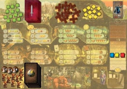 einer der Spielpläne - Dungeon Lords, Rechte bei Heidelberger Spieleverlag