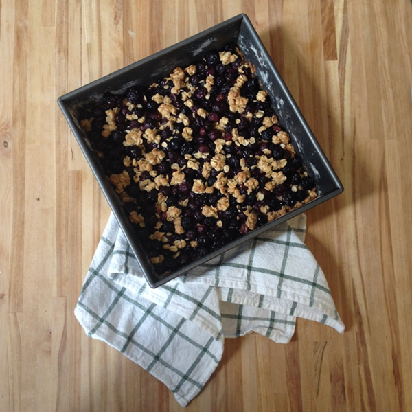 Blueberry Crisp Recipe | wemadeithome.com