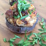 Mexi- stuffed mini Portobello mushrooms