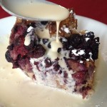 Triple Berry French Toast Bake with brown sugar cream