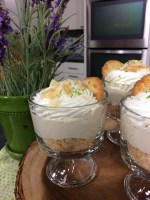 Coconut Key Lime no bake cheesecakes
