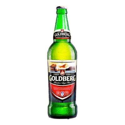 Goldberg Premium Lager Beer, 60cl Bottle.
