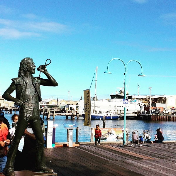 Bon Scott rocks on in Fremantle