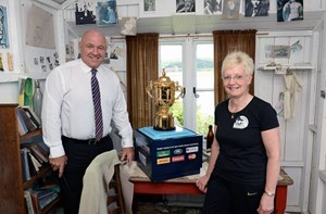 RUGBY WORLD CUP VISITS LAUGHARNE