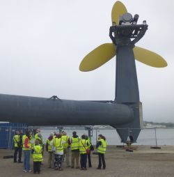 Pictured is a trip to Tidal Energy Ltd's Deltastream device at the Port of Pembroke, which took place during the recent EU Sustainable Energy Week.