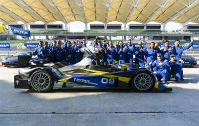 Group photo of participants at the MICHELIN Pilot Sport Experience 2015 (PRNewsFoto/Michelin AIM)