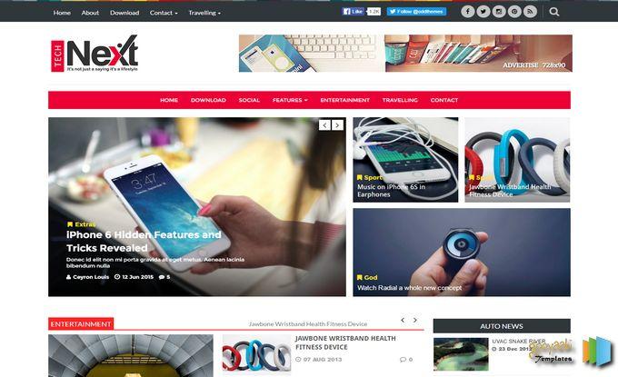 Download Tech Next Blogger Template