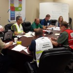 Command Staff has their first meeting of the Cascadia Rising exercise.