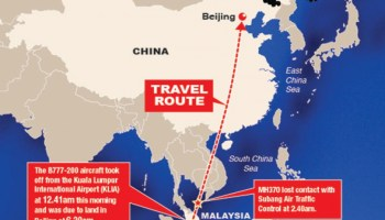 El avión malayo desaparecido, desviado a la base de EEUU de Diego García, con material peligroso a bordo, según Sorcha Faal