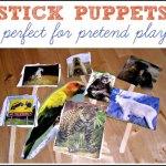 Puppet Play {Homemade Stick Puppets}