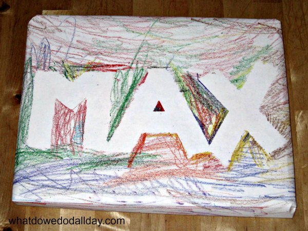 Personalized handmade wrapping paper - so easy!