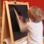 Painting on Chalkboard with Water