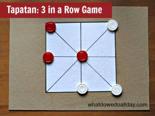 Tapatan a 3 in a Row Game for kids