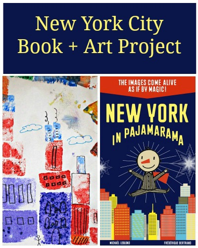 New York in Pajamarama and cityscape art project