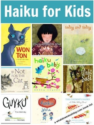Haiku poetry books for kids, a list of inspiring books