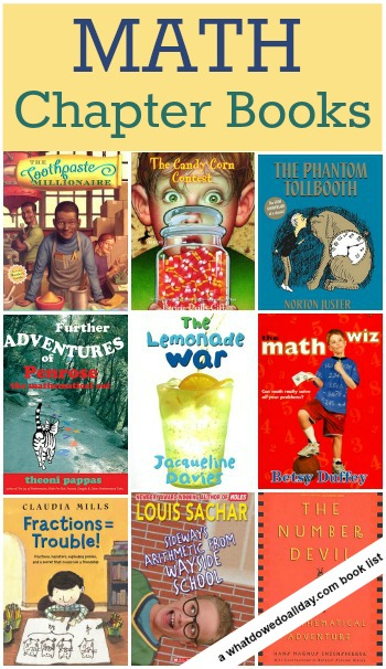 Math Chapter Books for kids: a list of more than 10 titles