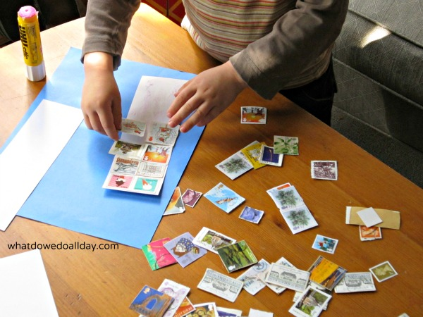 How to make handmade bookmarks out of postage stamps
