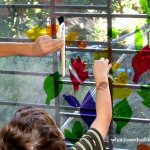 Fall Crafts for Kids: Cellophane Stained Glass