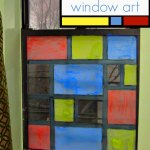 """Mondrian for Kids: """"Stained Glass"""" Window Art"""
