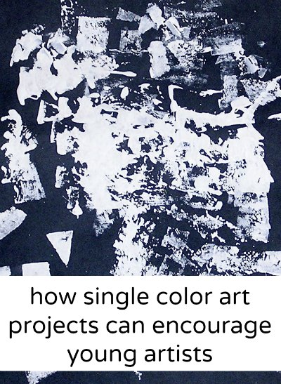 How offering only one color can inspire kids to create art