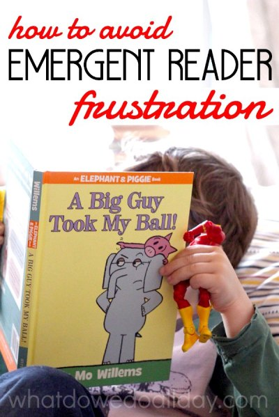 Parent tips for avoiding the early reading frustrations.