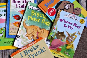 Easy reader books for beginning readers.