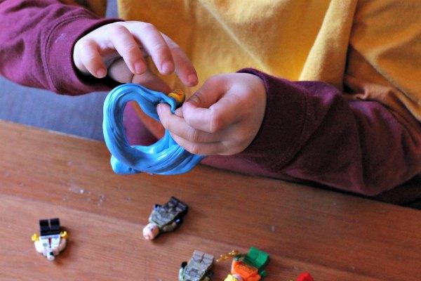 Fine motor activities with LEGO minifigures