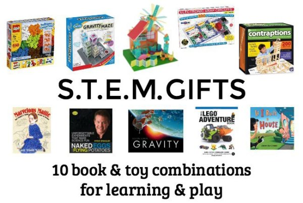 STEM gifts for kids with books for . Great educational gift idea.
