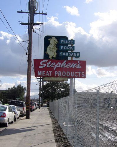 Pork sausage sign