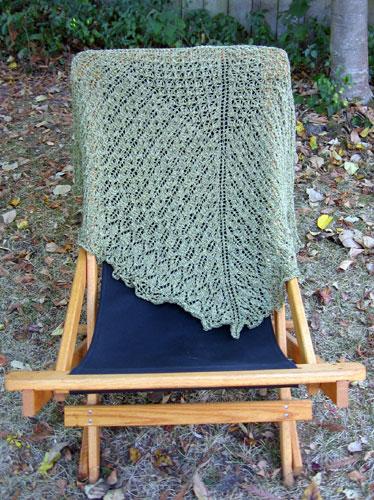 The shawl, draped