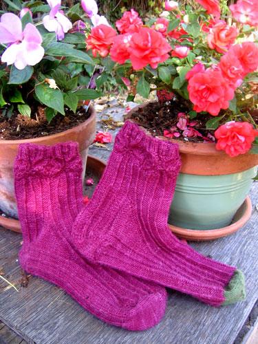 Socks and flowers