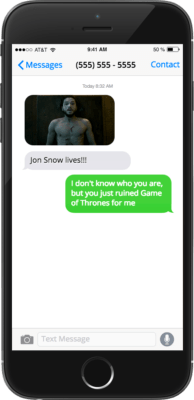 This Ruthless New App Will Anonymously Send Game of Thrones' Spoilers to People YouHate