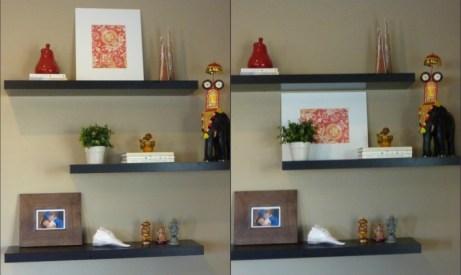 decorating floating shelves
