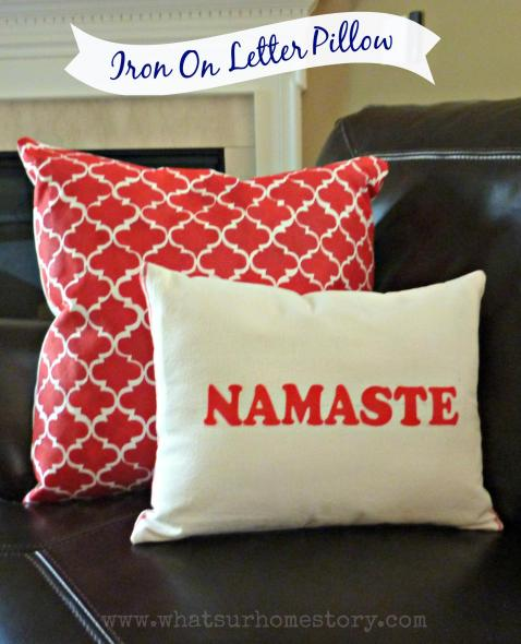 iron on letter , dish towel throw pillow