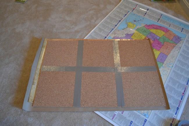 DIY Cork Board Map