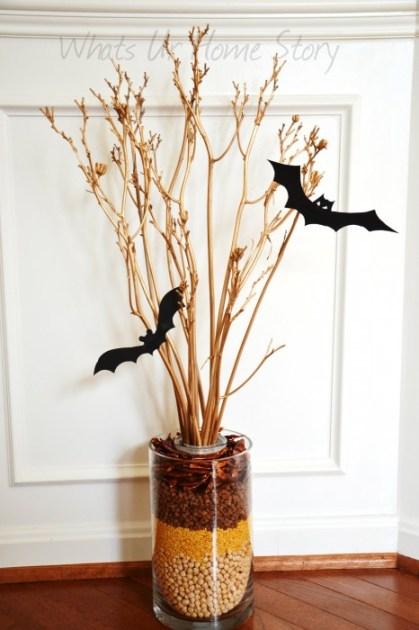 Whats Ur Home Story: double vase arrangement, vase in a vase arrangement, simple fall decor, Simple Fall Arrangement
