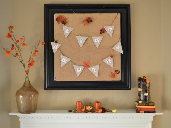 Whats Ur Home Story: Thanksgiving Mantle