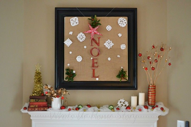 Whats Ur Home Story: Wintery Christmas Mantel Decorations, Wintery Christmas Mantel Decorations