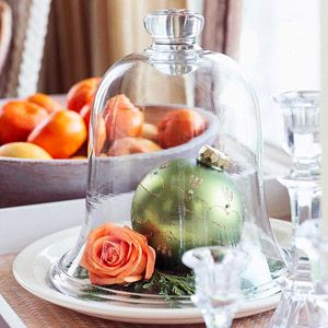 Simple holiday centerpiece