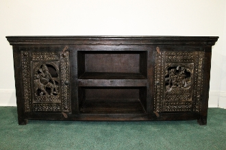 TV Stand or Entertainment Center with carved doors