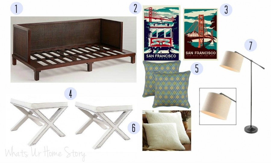 Guest bedroom on a budget, multi purpose guest room